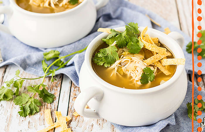 Slow-Cooker Green Enchilada Soup