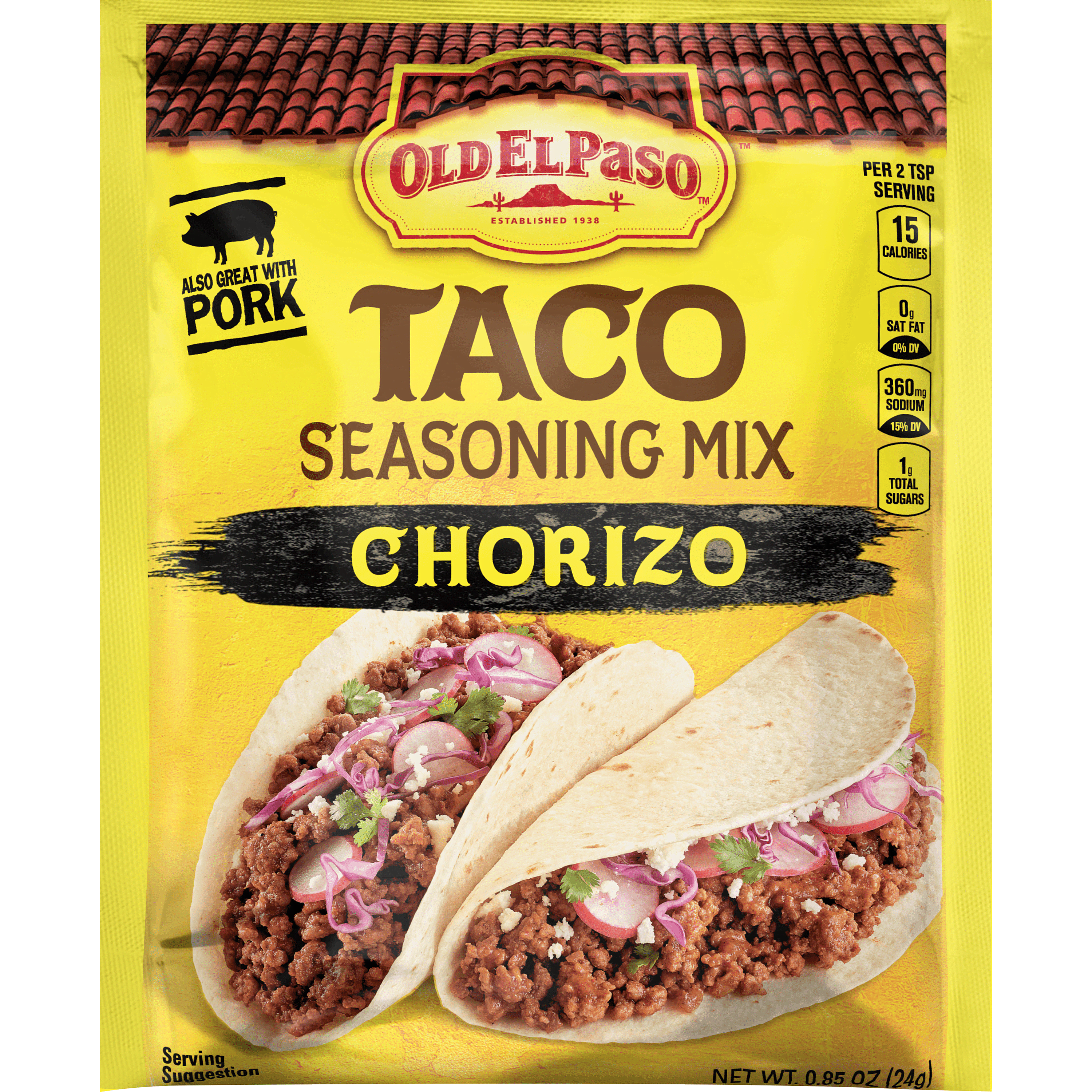 Chorizo Taco Seasoning Mix Mexican Seasoning Old El Paso