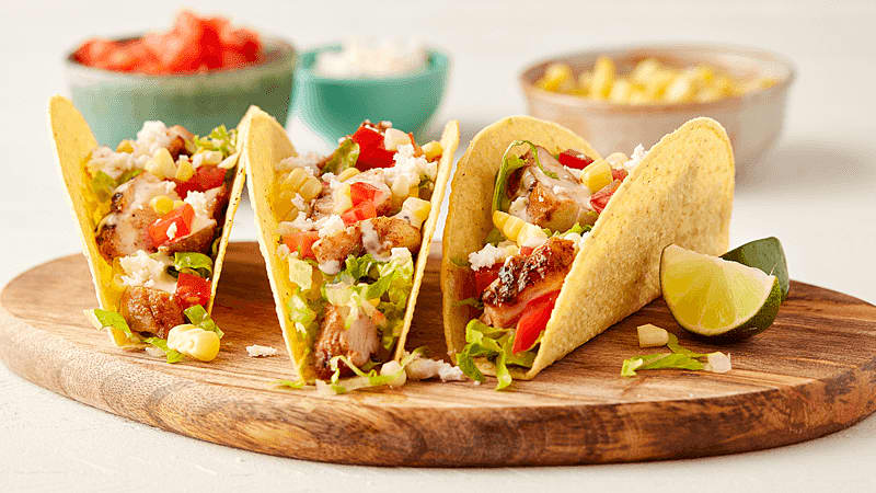Grilled Mexican Chicken Caesar Tacos Recipe From Old El Paso Old El Paso